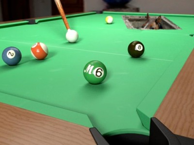billard table with horse hole
